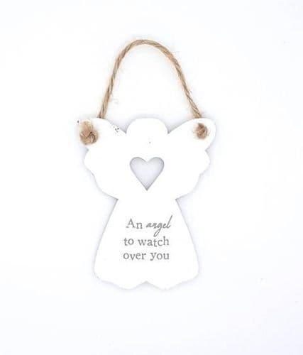 An angel to watch over you wooden sign